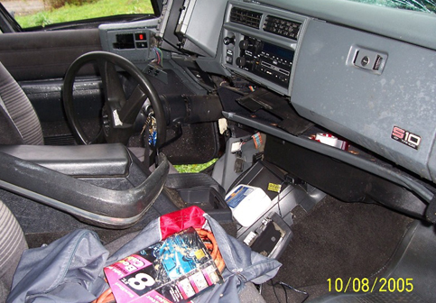 Chevy Blazer Crashed: Interior Pic