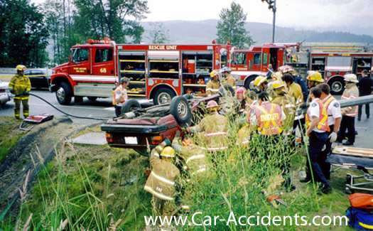 Broekn Neck Car Accident