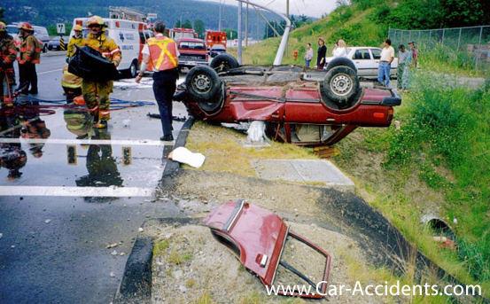 Flip Over Accident: Broken Neck Canada