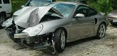 Porsche 911 car car accident for Rick hill mercedes benz kingsport tennessee
