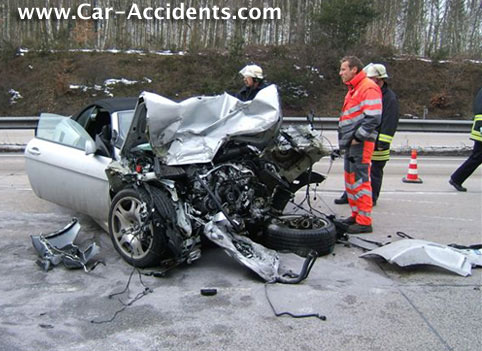BMW 645 Accident