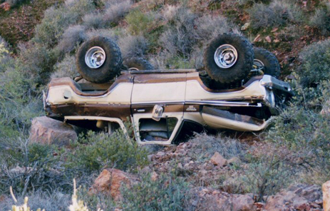 Ford Bronco Crash Florence Junction, Arizona