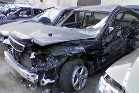 Tehran Iran Car Accident