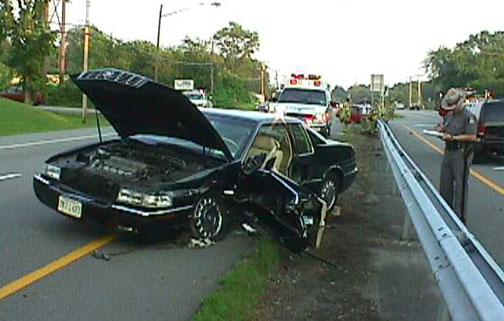Cadillac Crash Wappinger Falls, NY Accident, Wreck, Pic