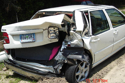 Volvo S70 Crash