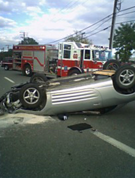Mitsubishi Eclipse Flipped: Wrecked