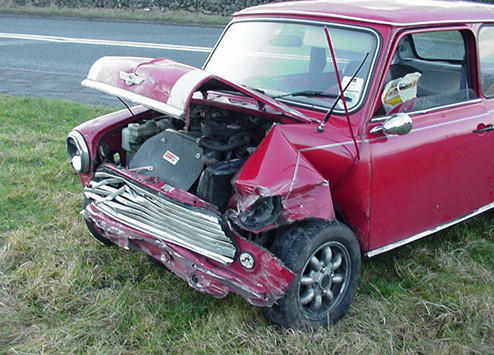 Mini Cooper Crash Wreck Crashed