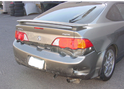 Acura  2006 on Acura Rsx Accident  Crash  Vs T Bired Rear Ended Phoenix  Arizona  Car