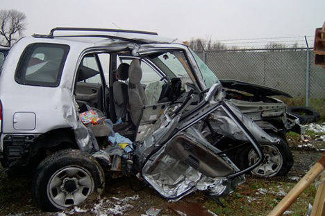 Suzuki Vitara Accident: Black Ice Crash Jaws of Life