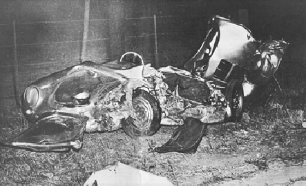 Accident  Photo on James Dean Crash Pictures  Porsche 550 Spyder Wrecks  Traffic  Crash