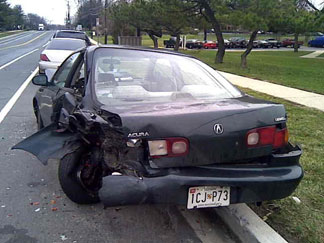Acura Integra Crash