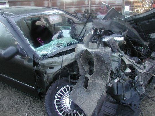 Infiniti car crash