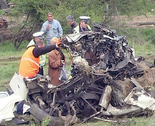 very bad truck crash serbia