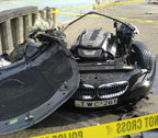 BMW 650 crash