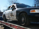 Police cruiser crash