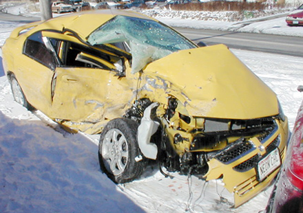 dodge neon sxt crash