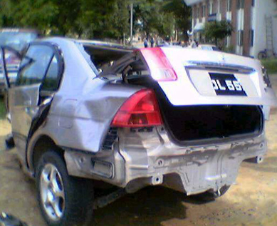 Honda Remains Wreckage