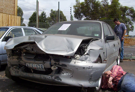 Second Holden accident: