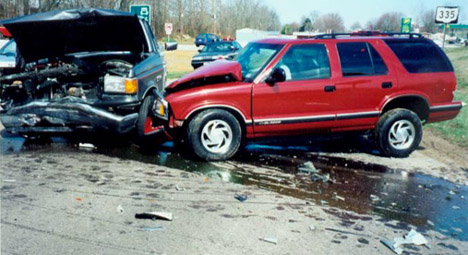 Chevy Blazer Truck Crash
