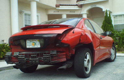 Pontiac Sunfire Crash: