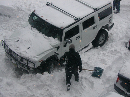 Hummer Stuck in Snow