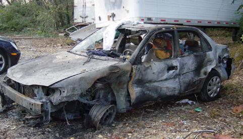Изгоряла кола - Голяма