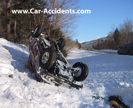 Snow Accident Rollover Crash