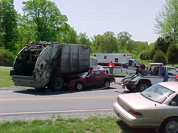 Dump Truck Crash Pic
