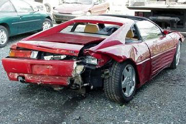 Ferrari 348 Crash