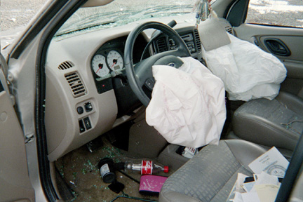 Ford Escape Air Bags Went Off Hillsborough New Jersey