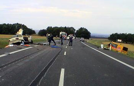 Czech crash accident