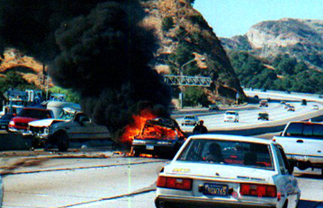 Car Fire Crash