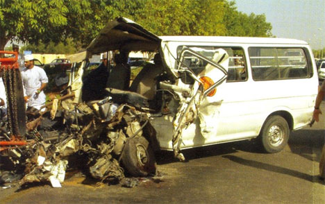 Oman auto crash pic